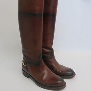 Gucci Betis Glamour Horsebit Riding Boots
